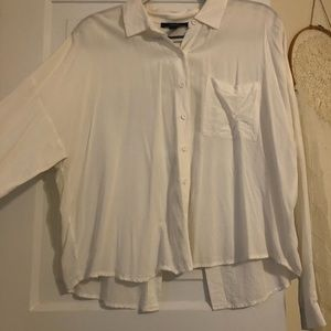 White Long Sleeve Button Up!!